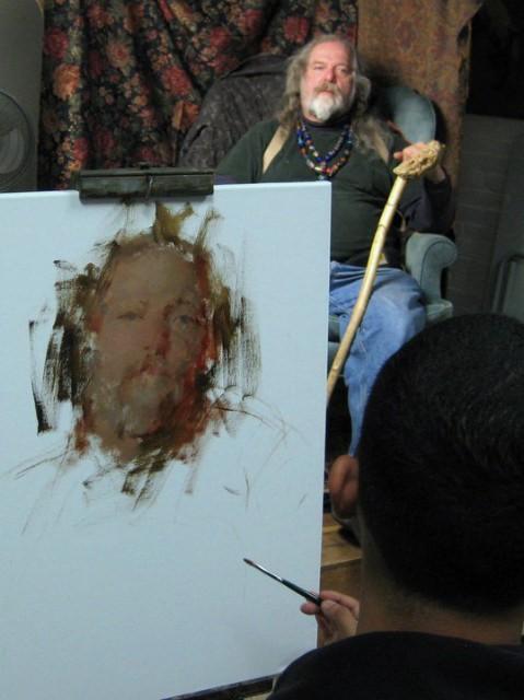 [Juan Ramirez painting Rick]