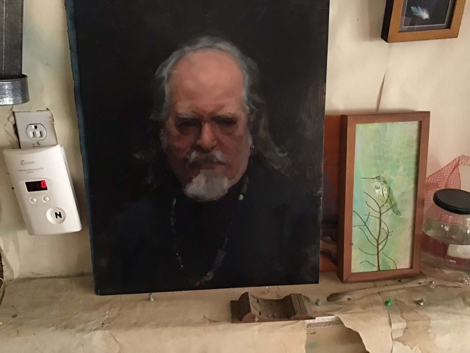 [Juan Ramirez painted this portrait of Rick]