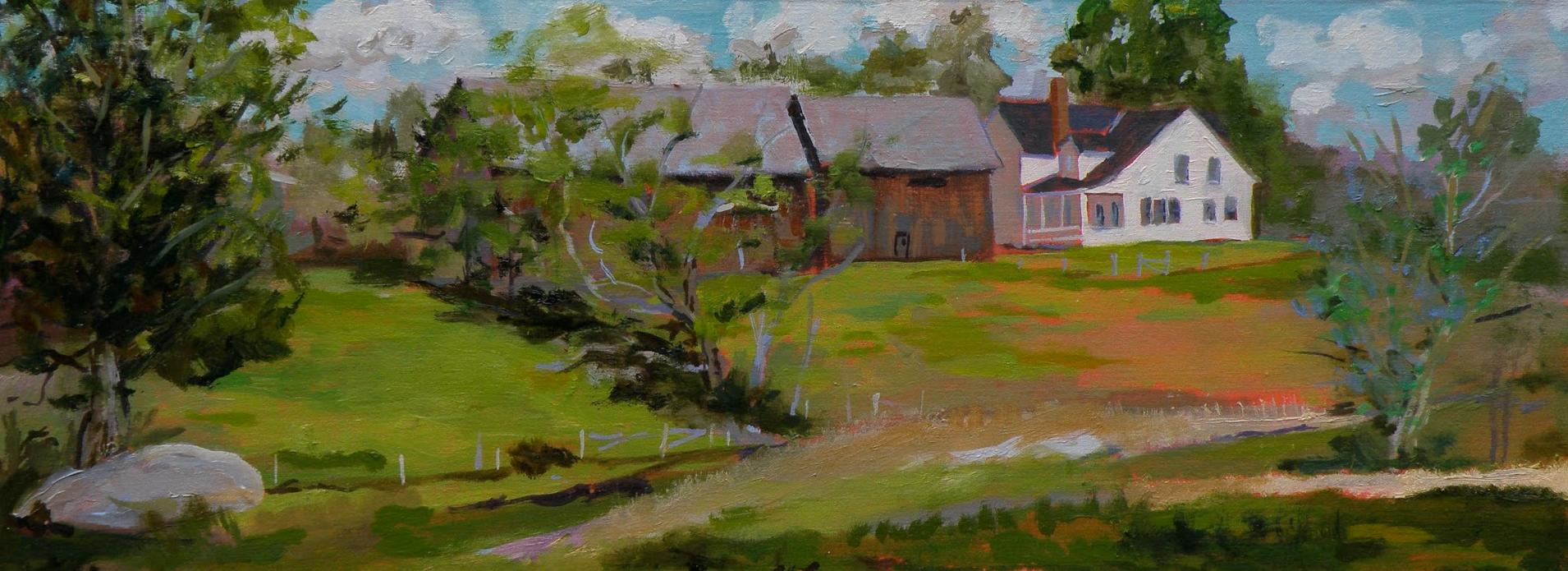 Perkins Hill Road, Weathersfield, Vermont; oil on panel