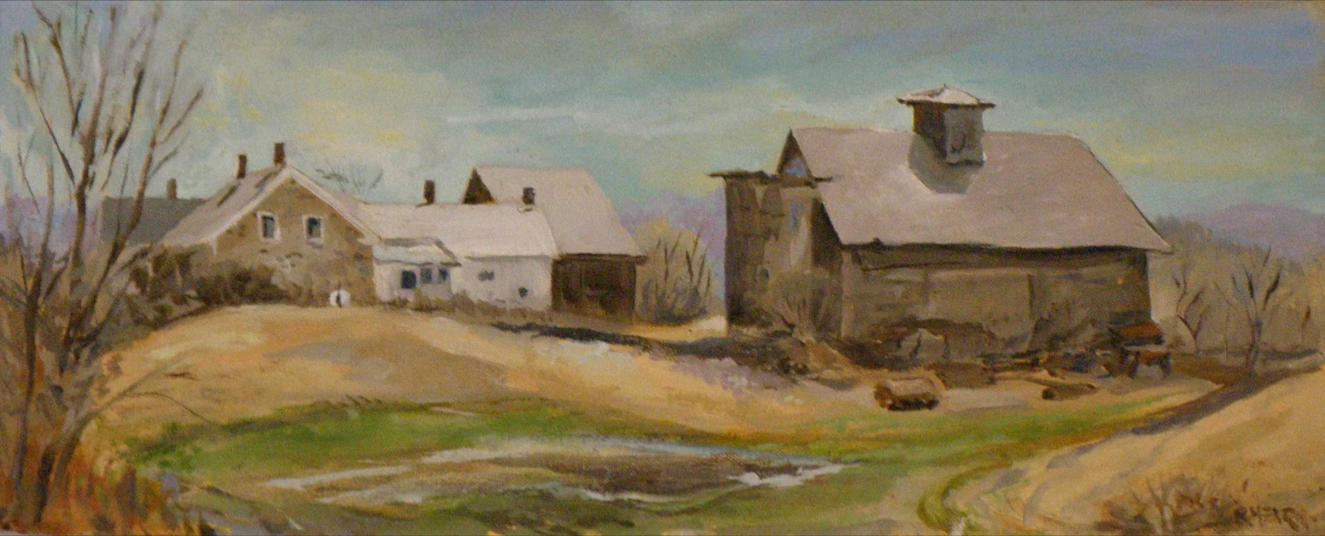 Holden Farm study, Green Mountain Turnpike, Chester, Vermont; oil on panel