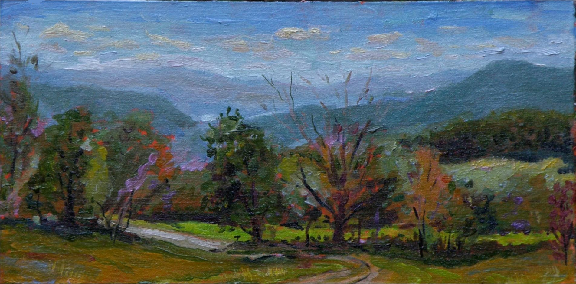 Osgood road, Springfield, Vermont; oil on panel