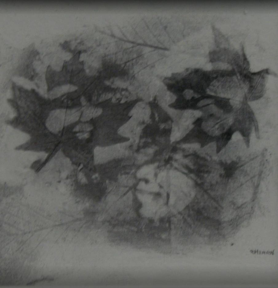 [Leaf Friends, 2-inch drawing]